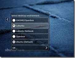 Lubuntu selection when logging into Ubuntu